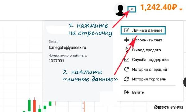 The transition of the account IQ Option in rubles