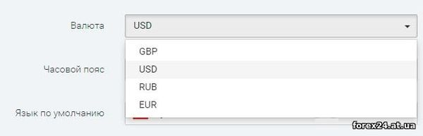 Quickly change the account currency to IQ Option